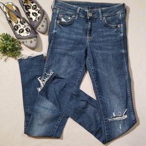 H&M Super Skinny Low Waist Jeans Size 25/32